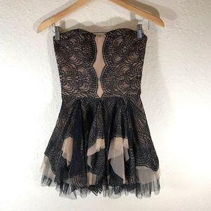 BCBG Max Azria Black Lace mini dress